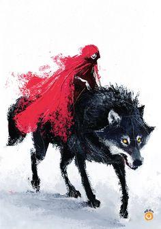 little red riding hood by solitarium (Oren)  love the brushstrokes