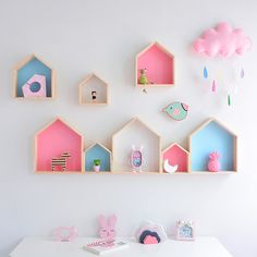 Kids Room Decoration Wooden Shelf For Kids Room Nursery Decoration Wall Wood Shelf For Children Boy Girl Room Wall Decor Shelf-in Decorative Shelves from Home & Garden on AliExpress Wall Hanging Shelves, Wooden Shelves, Decorative Shelves, Wood Shelf, Wooden Shelf Design, Girls Room Wall Decor, Nursery Wall Decor, Playroom Decor, Bedroom Decor