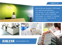 BallyaBio was founded in 2007 based on a small private laboratory, and focuses on the food safety field with full advanced technologies to research & develop, manufacture and market new & improved products. Pet Health, Health Care, Research And Development, Medical Field, Food Safety, New Market, Founded In, Innovation, Technology