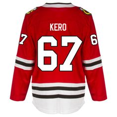 Chicago Blackhawks Adult Tanner Kero Premier Home Jersey da48d183d