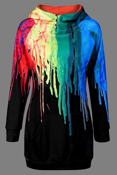 On Sale Oil Paint Over Print Hoodies Women Casual Autumn Sweatshirts Boho Style, Style Me, Shirt Designs, Cooler Look, Mode Outfits, Dress Outfits, Dresses, Looks Cool, What To Wear