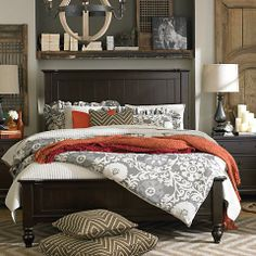 Wakefield captures the true spirit of Cottage style, with its soft pilasters and bun feet. Finished in a rich Dark Molasses finish and accented with pewter knobs.  Available in Full, Queen, King, and Cal King. Also available in twin which is shown separately.