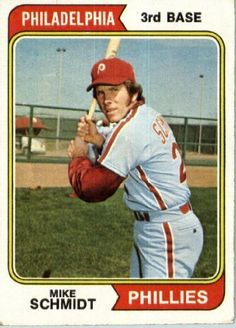 1974 Topps #283 Mike Schmidt Philadelphia Phillies Baseball Card In A Protective…