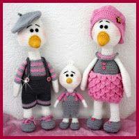 Familia de patos amigurumi
