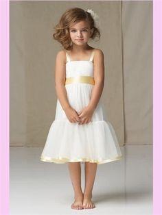 White Tulle Flower Girl Dress TOO Cute.