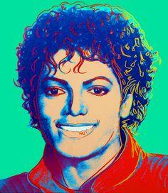 Michael Jackson (Green), 1984 - Andy Warhol