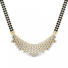 Round Diamond Yellow Gold 18K | Vashisht Mangalsutra Pendant | Candere.com