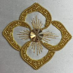 Goldwork Embroidery worked by Celeste Chalsani ~ https://www.facebook.com/celestechalasani2015/photos/a.695391193930211.1073741828.695382550597742/775870205882309/?type=3