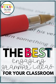 Grammar Ideas for Your Middle School Classroom