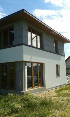 Facade Design, Fence Design, House Design, Model House Plan, House Plans, House Elevation, Modern Exterior, Home Fashion, Interior Design Living Room