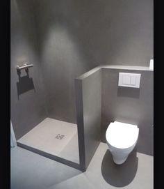 Douche wc béton