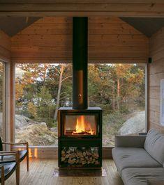 〚 Modern wooden cabin with sauna on rocky island in Finland 〛 ◾ Photos ◾Ideas◾ Design Scandinavian Cabin, Summer Cabins, Wooden Cabins, Forest House, Forest Cabin, Cozy Cabin, Cabin Homes, Cabins In The Woods, House Plans