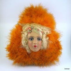 Vintage 1920s French Chocolate Box Flapper Boudoir Doll Head Candy Container #ArtDeco http://stores.ebay.com/mmmosts-Old-time-Stuff-and-Threads