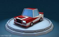 Low poly racing car free download