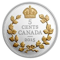 1 oz. Fine Silver Gold-Plated Coin – Legacy of the Canadian Nickel: The Crossed Maple Boughs – Mintage: 8,500 (2015