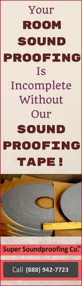 SoundProofing Tape - A Must needed sound proofing product for your room.