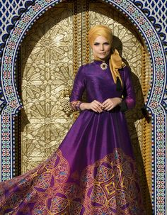 Muslima Wear Silk Way Collection- Violette Dress
