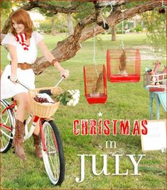 Great photos and fun ideas to spice up a summer Christmas party.