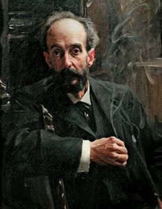 Anders Zorn, Portrait of a Man Smoking. Zorn's used the smoke for his signature, too.