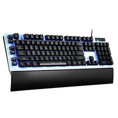 Pictek Mechanical Feel Gaming Keyboard Wired, LED Gaming Keyboards USB Wired Keyboard with 7-Color Backlit, 26 Anti-ghosting Keys… #deals