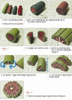 daisy leaf polymer clay - Google Search