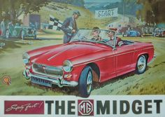 MG Midget (Robert Opie postcard collection) via @PaulLawrence623