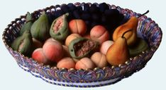 fruits artificielles, hand crafted from almond paste