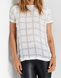 Custommade Lixim Check Blouse in White £145