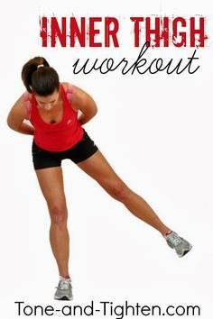 You'll be feeling this one!! Inner Thigh Workout (Video Workout) at Tone-and-Tighten.com #fitness #legs #workout