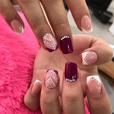 Maryi🌸 Coffin Nails, Acrylic Nails, Beauty Nails, Hair Beauty, Henna Nails, Mandala Nails, Nail Decorations, Easy Nail Art, Perfect Nails