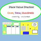 This smart board lesson was created to provide students with place value practice activities (ones, tens, hundreds).  Students will view and use di...