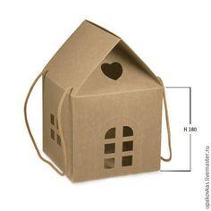 Купить Коробки подарочные - домики - коробка подарочная, упаковка подарочная, коробка картонная, упаковка картонная