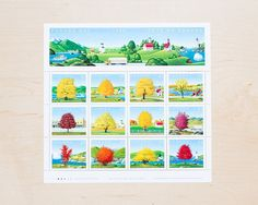 Maple Trees of Canada Postage Stamps Vintage Unused Botanical Stationary Calligraphy Envelopes Wedding Curated Canadian