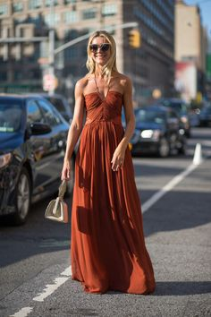 Burnt Orange; Summer Maxi Dress