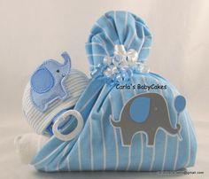 Stork bundle baby | Boy diaper cake | Baby diaper cake | Elephant diaper cake | Baby shower gift | Unique baby gift | Baby sprinkle gift by MsCarlasBabyCakes on Etsy