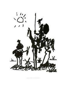 """FAR00864"""" Pablo Picasso - Don Quixote"""" (11 X 14)"""