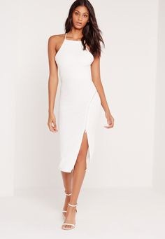 Feed your need for dresses this weekend in this white hot little number. This party poppin' piece will have you turnin' heads and will ensure you're the centre of attention on the dancefloor. Featuring zip detail to the front with a racer n...