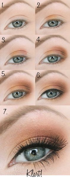 The right eye make-up for your eye shapes - 12 golden .- Das richtige Augen Make Up für Ihre Augenformen – 12 goldene Tipps The right eye make-up for your eye shapes – 12 golden tips – - Brown Eye Makeup Tutorial, Smokey Eye Tutorial, Easy Eyeshadow Tutorial, Easy Smokey Eye, Eyeshadow Tutorial For Beginners, Eye Shadow For Beginners, Smoky Eye For Blue Eyes, Makeup Tutorial Step By Step, Cat Eye Makeup Tutorial