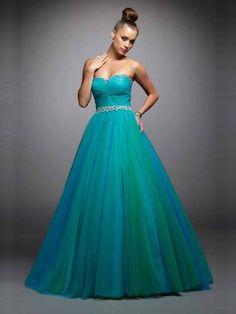 Ball Gown Sleeveless Beading Floor-Length Sweetheart Tulle Dresses - Formal Dresses