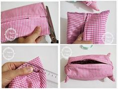 Çocuklar İçin Kumaş Kalemlik Dikelim-Resimli Anlatımlı - Tiny Mini Design Handmade Bags, Coin Purse, Wallet, Purses, Sewing, Sew Bags, Vintage, Ideas, Fashion
