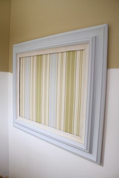Love this repurposed frame as a memo board!  Teen room?