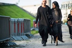 Before Rick Owens - Paris Fashion Week - with Rocco Vernoia pict by Adam Katz Sinding on W Magazine