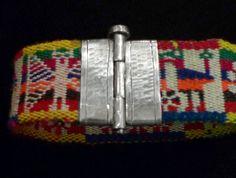 4 Pulsera con tejido antiguo - Plata Nativa