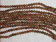 GEMSTONE BEADS-AUTUMN JASPER-LOOSE BEADS-6 MM-25 COUNT-$2.99 | eBay