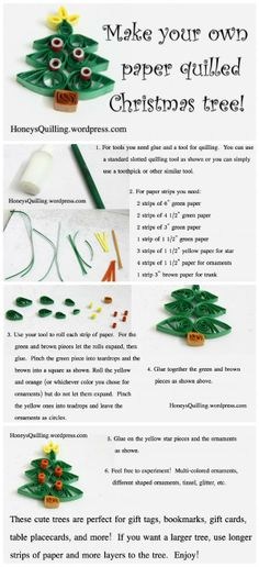Quilling - a Christmas tree