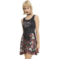 Hot Topic Panic! At The Disco Floral Dress ($31) ❤ liked on Polyvore featuring dresses