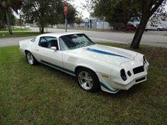 1979 Chevrolet Camaro Z28 white with blue stripes | 1979 Camaro Z28 454 Big Block Show Quality on 2040cars