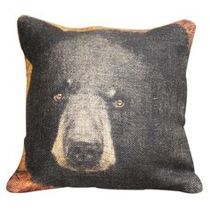 I pinned this Black Bear Pillow from the Animal Kingdom event at Joss and Main!