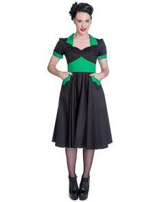 Hell Bunny Vampiress 50s Dress Black Green Pinup Rockabilly VTG Goth  Amazon .co. 6c17a66d2