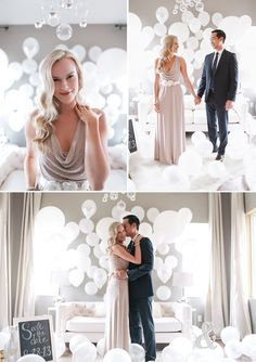 Balloons and Bubbly engagement shoot by Allie Lindsey